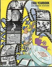 1968 Los Angeles Dodgers Souvenir Yearbook 10 years of Thrills with Dodgers NRM