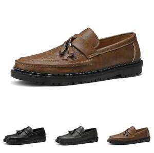 Brogue Mens Faux Leather Business Leisure Shoes Tassels Oxfords Slip on Casual L
