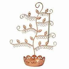 Metallic Copper Jewellery Stand Tree Display earrings necklaces, fashion gift