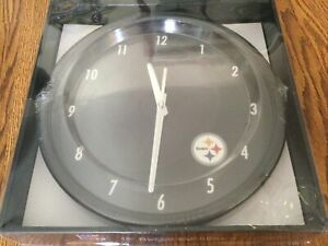 """Pittsburgh Steelers 12"""" Clock - NEW - Ticketed Price $24.99"""