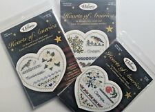 The Victoria Sampler Cross Stitch Kits Lot Hearts of America 3 Different States