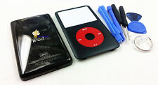 new black housing faceplate case cover red clickwheel for ipod 7th classic 160gb