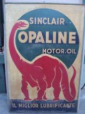 Insegna Sinclair motor oil Opaline Torino old sign legno Fiat Lancia Alfa Romeo