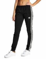 100% Genuine adidas Originals Supergirl Track Pants - Women - Black - Size UK 4
