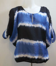 Converse All Star Blue Blouse Open Shoulder Boho Top M