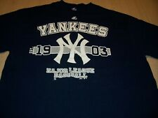 MAJESTIC NEW YORK YANKEES SHORT SLEEVE BLUE T-SHIRT MENS XL EXCELLENT CONDITION