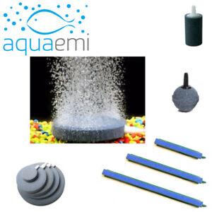 Aquarium Air Pump Bubble Stone Disk Bar Cylinder Ball Fish Tank Oxygen Diffuser