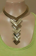 Metal Modern Statement Y- Necklace Signed $95 Nwt Robert Lee Morris Gold-Tone