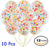 "10pcs 12"" Foil Latex Confetti Balloon Baby Shower Wedding Birthday Hen Party"