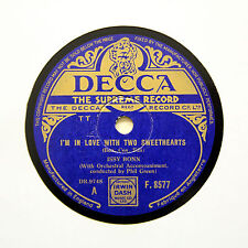"ISSY BONN ""I'm In Love With Two Sweethearts"" (EE+) DECCA F-8577 [78 RPM]"
