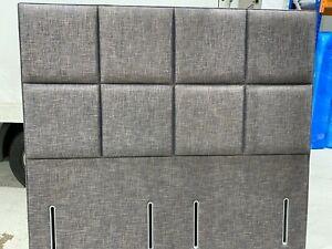 Hypnos Victoria Euro Slim Headboard 180cm SUPER King 6ft RRP £1550 NAVY WEAVE