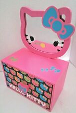 Hello Kitty 2-in-1 Jewelry Box with Removable Mirror New Pink/Blue/Green