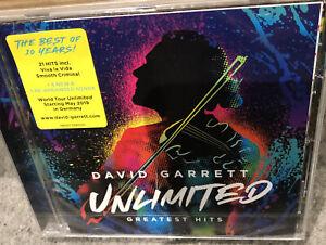 DAVID GARRETT - UNLIMITED - GREATEST HITS  [CD]  - NEW & SEALED. Freepost In Uk