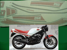 YAMAHA RD 350 N 1JF YPVS 1985 MOTO BIANCA ADESIVI