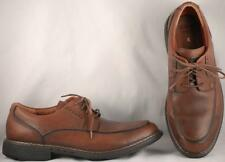 Men's Clarks 1825 Unstructured Brown Leather Lightweight Oxfords US 10.5 M