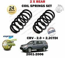 FOR HONDA CRV RD 2.0i 2.2 CTDI 2001-2006 NEW 2 X REAR COIL SPRINGS SET