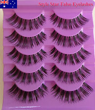 5 Pair Natural Long Thick Soft Fake False Eyelashes Hand Made Extensions Makeup