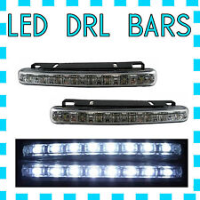 8 SMD LED DRL STRAIGHT DAYTIME RUNNING LIGHTS DRIVING BULBS AUX (FOR HONDA)