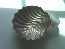 Vintage Footed Shell Shape Silverplate Dish, for Nuts/Candy, Good