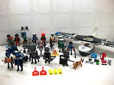 Playmobil Polizei Konvolut: 18xFiguren + Wasserflugzeug + Quad + Zubehör + Diebe