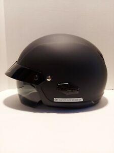 🏍 HJC Motorcycle Half Helmet Brand New XL With Smoked Visor Matte Black 🏍