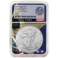 2021 $1 American Silver Eagle NGC MS70 FDI West Point Core