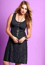 Kleid Gr.56 Hängerchen Spitze Spitzenkleid Sommerkleid schwarz Babydoll Sheego