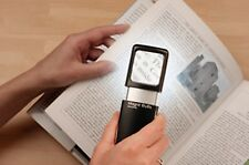 Illuminated Magnifier LED x3 MAGNIFICATION Loupe Hand Held Explorer Sewing Maps
