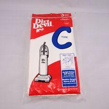 Genuine Dirt Devil 3-700147-001, Type C, Vacuum Cleaner Bags, Pack Of 3