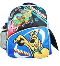 """Unisex Boys Girls Scooby Doo Racing School 12"""" Backpack Book Bag+Water Bottle"""