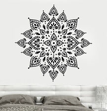 Vinyl Wall Decal Mandala Yoga Meditation Hinduism Lotus Stickers (705ig)