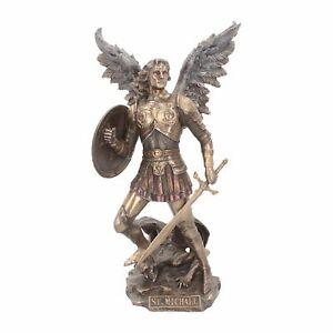 ARCHANGEL MICHAEL Veronese Large 33cm Bronzed Ornament Nemesis Now Gift FREE P+P