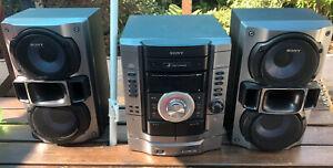 Sony CD 3-DISC Changer Cassette Radio HCD RG295