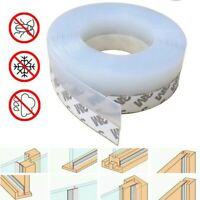 5M Silicone Self Adhesive Window Door Excluder Seal Rubber Tape Weather Strip