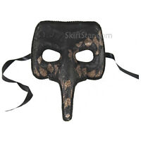 Adult Venetian Black Pantalone Jester Long Nose Commedia Costume Masquerade Mask