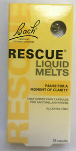 Bach RESCUE liquid Melts / DAY / Alcohol Free / 28 Capsules / Long Date