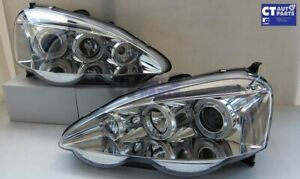 Clear LED Angel Eyes Projector Head Lights for HONDA INTEGRA TYPE R DC5 01-03