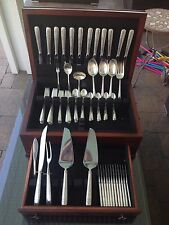 CAMELLIA 95 PC 12x7 SETTINGS + SERVERS INTERNATIONAL STERLING SILVER SET CHEST