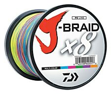 Daiwa J-Braid X8 Braided Line Multi Color JB8U30-1500MU 30lb - 1500m/1650 Yard