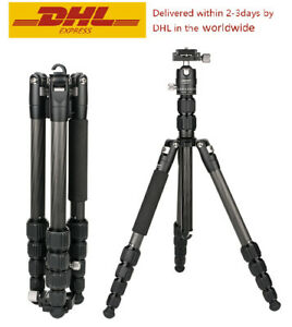 CAVIX P0225BOC Professional Tripod with Ball Head Carbon Fiber for DSLR Camera