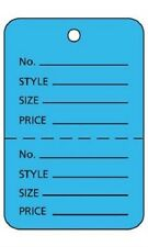 """3000 Perforated Tags Price Sale 1 ¾"""" W x 2 ⅞� H Two Part Blue Coupon Unstrung"""