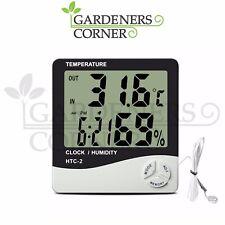 Termometro digitale misuratore di umidità Hydroponics Grow Room LCD Igrometro con sonda