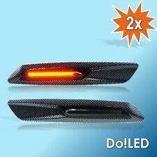 LED Seitenblinker Blinker CARBON passt für BMW E60 E61 E81 E82 E87 E88 E90 21S