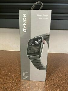 Nomad Steel Band Black 44mm/42mm for Apple Watch NM1A4HB000