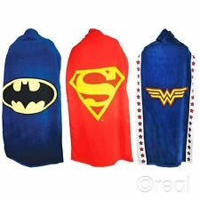 New DC Comics Batman Wonder Woman Or Superman Logo Cape Towel Beach Official