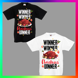 Winner Winner Christmas Dinner TShirt T-Shirt Tee Kid Children Xmas Unisex Cute