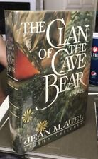 CLAN OF THE CAVE BEAR Jean Auel 1st PRINTING Hardcover In DJ RARE 1st Edition!