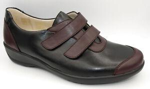 Goldkrone Hallux Klettslipper schwarz bordeaux Damen Schuhe Weite H Neu 581/2