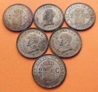 @LUJO@ 1 moneda x 2 CENTIMOS 1912 * 12 PCV ALFONSO XIII SC BRONCE KM.726 España