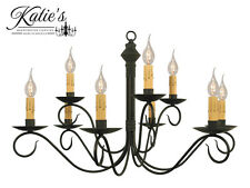 Adams 2-Tier Wrought Iron Chandelier by Katie's - Primitive Colonial - NEW!